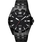 【送米奇電扇】CITIZEN 星辰 百搭時尚石英錶-黑/42mm BI5055-51E
