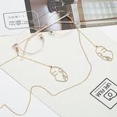 簡約眼鏡鍊條掛脖 同款洛麗塔復古時尚太陽鏡墨鏡近視鏡掛繩子   琉璃美衣