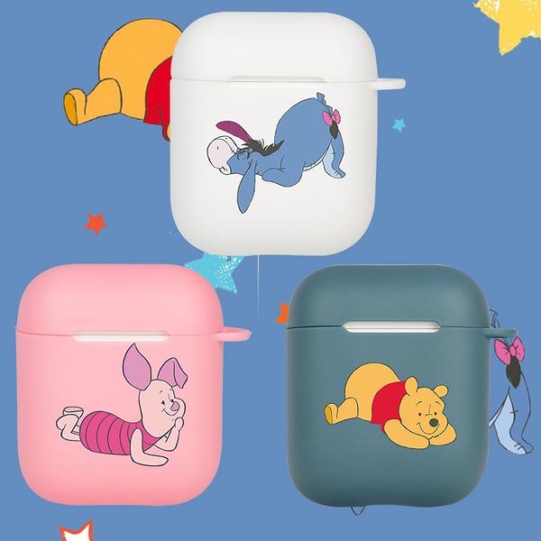 即將現貨 台灣發貨? Airpods2 藍芽耳機保護套 蘋果無線耳機保護套 維尼熊+驢子+小豬