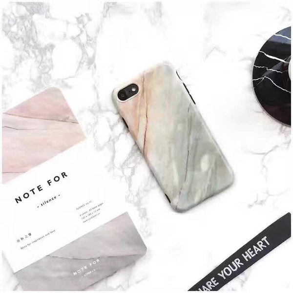 King*Shop~黑白珊瑚大理石紋原創意蘋果6S手機殼iPhone7 Plus磨砂軟殼情侶款