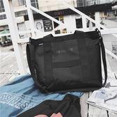 斜挎旅行包 帆布包男韓版休閒運動大容量單肩包潮男包手提包男士潮TA4116【極致男人】