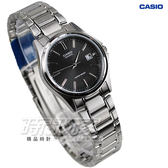 CASIO卡西歐 LTP-1183A-1A 簡約休閒小圓錶 不銹鋼帶黑色 LTP-1183A-1ADF