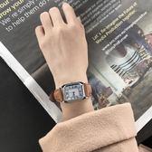手錶 手錶 女士手錶防水時尚款女學生韓版簡約長方形大表盤休閒大氣【韓國時尚週】
