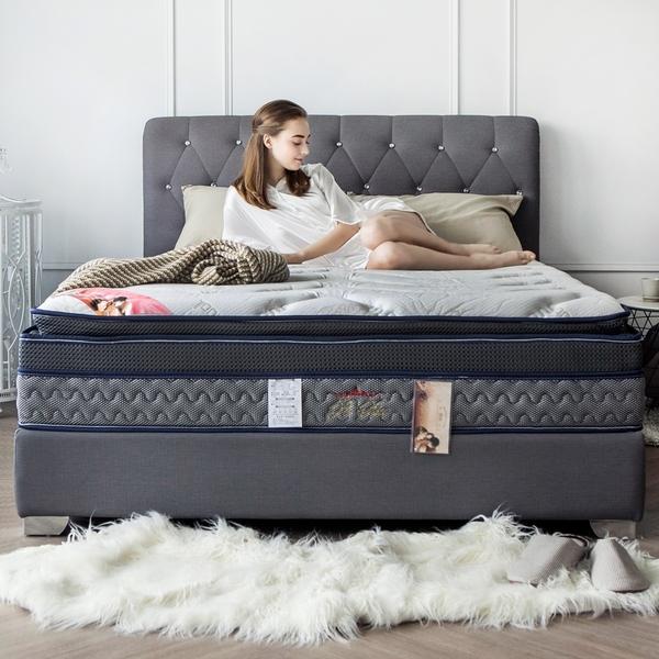 波斯系列-舒眠四線恆溫記憶高支撐獨立筒床墊/雙人加大6尺/H&D東稻家居