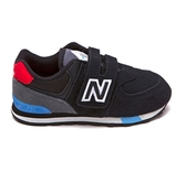 New Balance 拼接黑紅藍魔鬼氈小童鞋-NO.IV574JHO