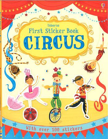【麥克書店】FIRST STICKER BOOK:CIRCUS /貼紙書