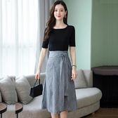 洋裝 韓版流行夏季長款高端a字連身裙 超值價
