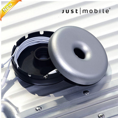 【東西商店】JustMobile  Dount™ 甜甜圈造型鋁質整線盒+ 30pin USB充電傳輸線