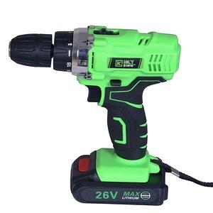 【MS】多功能充電式26V電鑽+113件工具組(無段變速/大容量電池)黑綠