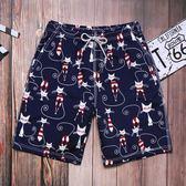 傲狄沙灘褲男速干海邊度假寬鬆情侶裝溫泉短褲女五分大碼平角泳褲 新知優品