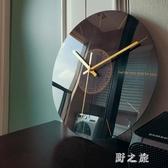 掛鐘 靜音客廳石英鐘表家用時鐘創意時尚現代簡約大氣藝術輕奢北歐 KV5666 【野之旅】