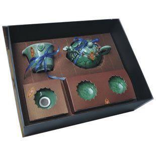 中逸 10件青瓷茶具套裝高檔禮品 龍騰盛世