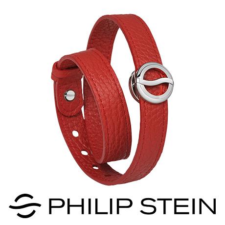 【Philip Stein】翡麗詩丹能量手環-【經典紅】睡眠手環/運動手環