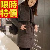 毛呢大衣-唯美溫暖羊毛女長版外套1色62k42[巴黎精品]