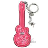 茱麗葉精品【全新現貨】MICHAEL KORS 街頭塗鴉吉他造型鑰匙吊飾.螢光粉