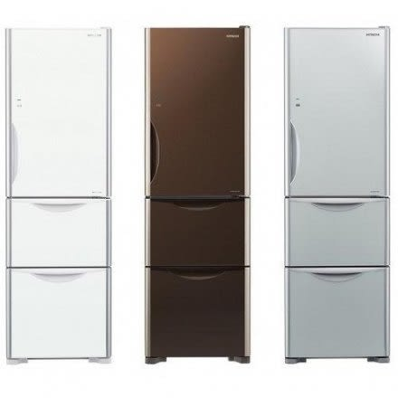 回函贈1000元商品卡《日立HITACHI》394L三門變頻電冰箱 GBW琉璃棕/GPW琉璃白/GS琉璃瓷  RG41B