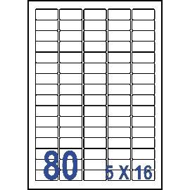 Unistar 裕德3合1電腦標籤紙 (31)US4345 80格 (20張/包)