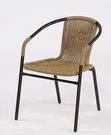 【南洋風休閒傢俱】餐椅系列- 戶外鋼管編織椅 編藤鐵管餐椅 (HC063 062)