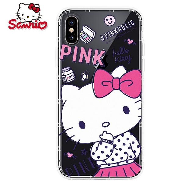 King*Shop~ Hello Kitty正品 iPhone X XS 手機殼透明防摔空壓蘋果X硅膠女款卡通套