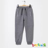 針織束口長褲灰-bossini男童