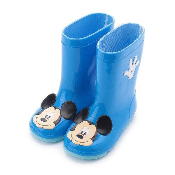 DISNEY 米奇大頭高筒雨鞋 藍 118819 中童鞋 鞋全家福