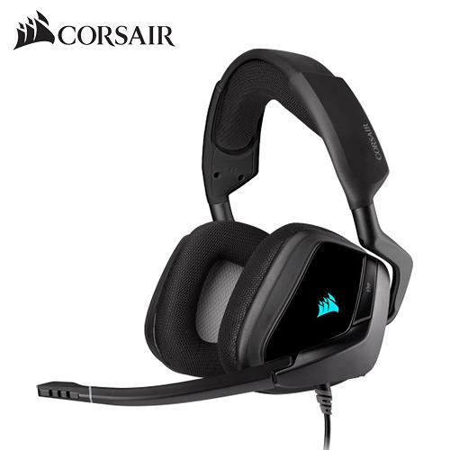 CORSAIR 海盜船 VOID RGB ELITE USB 7.1聲道 電競耳機 耳機麥克風 黑