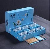 日式創意家用吃飯陶瓷碗套裝飯碗碗筷套裝禮品餐具禮盒裝婚慶回禮igo『韓女王』