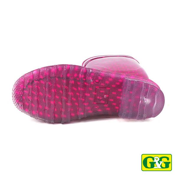 【G&G】桃紅色繽紛果凍長筒雨靴 (CPD04F-ROS)