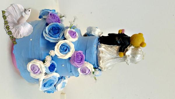 獨家手作 [3層婚禮蛋糕旋轉音樂鈴 婚禮進行曲] (可參考影片檔) 婚禮禮物 結婚賀禮
