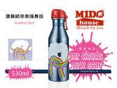 《Midohouse》『 THERMOS膳魔師思樂隨行瓶~ 雲彩朵朵』530ml