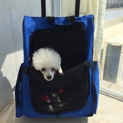 寵物包-時尚拉杆舒適透氣貓狗雙肩女後背包2色69b39[時尚巴黎]