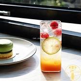 餐廳北歐冷飲玻璃杯 方形水杯果汁杯蘇打水杯【雲木雜貨】
