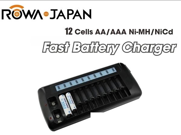 ROWA RW-AA9V 12槽單迴路 LCD充電器 3號 4號 9V 電池【12道充電器】不含電池 具充放電功能