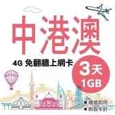 中港澳通用 中國網卡 3天1GB上網卡 4G網速 免翻牆 隨插即用 網路卡 網卡 上網卡