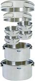【速捷戶外】【犀牛RHINO KS-45 四-五人不銹鋼輕便套鍋 304不鏽鋼 摺疊式握把 煎盤 調理鍋 附收納袋