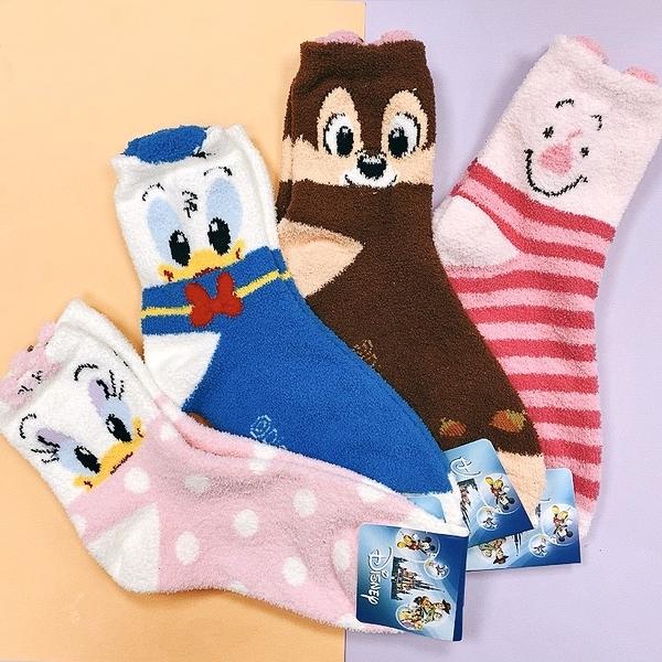 韓國珊瑚絨襪子 迪士尼 進口襪子 保暖襪 單雙 毛襪