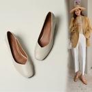 大尺碼女鞋34~43 2021年簡約百搭方頭粗中跟鞋~3色
