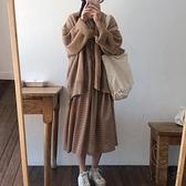秋冬季套裝學生韓版日系溫柔風可鹽可甜連衣裙兩件套女【小酒窩服飾】
