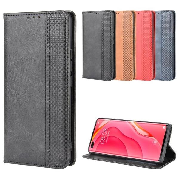 適用于HTC Desire 20 Pro磁扣復古紋皮套手機殼翻蓋式插卡保護套