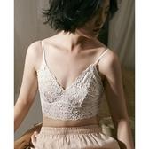 舒適蕾絲bralette內衣女士 無鋼圈法式文胸超薄款性感小胸罩夏季