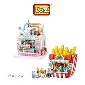 LOZ 迷你鑽石小積木 樂園商店系列 #4 蛋糕店 薯條店 益智玩具 原廠正版