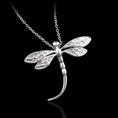 925純銀項鍊-獨特正韓精緻個性蜻蜓風格生日母親節禮物女吊墜73ad5【巴黎精品】