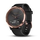 【岱宇國際Dyaco】Garmin vivomove HR 指針智慧手錶 運動款-黑色玫瑰金
