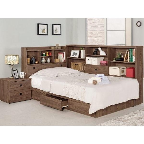 床架 MK-666-1 諾艾爾3.5尺書架型單人床 (床頭+床底)(不含床墊) 【大眾家居舘】