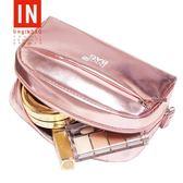 bagINBAG少女心化妝包小號便攜韓國大容量簡約化妝品收納包化妝袋     西城故事