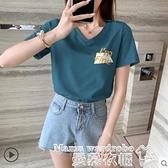 短袖T恤 短袖t恤女2021年新款韓版寬鬆大碼時尚洋氣夏裝ins潮百搭上衣2021 曼慕