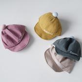 小童 小球軟帽簷鴨舌帽 棒球帽 遮陽帽 帽子 新生兒 男童 女童 嬰兒 防曬 橘魔法 現貨 兒童 童帽