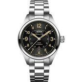 Hamilton 漢米爾頓 Khaki Field卡其野戰80小時動力儲存機械手錶-黑x銀/42mm H70505933