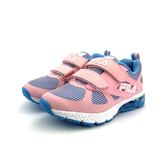 FILA 魔鬼氈 透氣網面 兒童氣墊慢跑鞋《7+1童鞋》4209 粉色