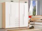 【森可家居】明日香2.64尺單抽衣櫃(單只-編號1) 7ZX151-9 衣櫥 白色 木紋 無印風 北歐風 衣物收納